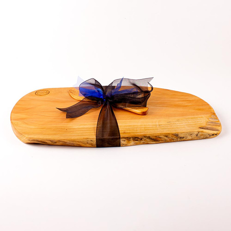 Rustic Natural Edge Board and Knife Set 468