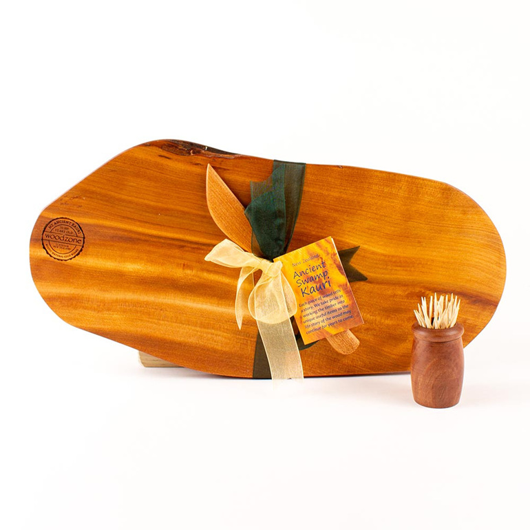 Rustic Natural Edge Board and Knife Set 478
