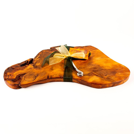 Rustic Natural Edge Board and Knife Set 482