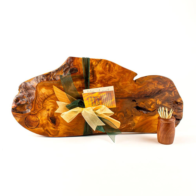 Rustic Natural Edge Board and Knife Set 486