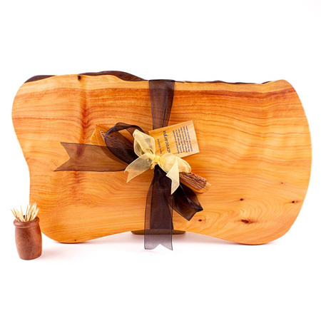 Rustic Natural Edge Board and Knife Set 498
