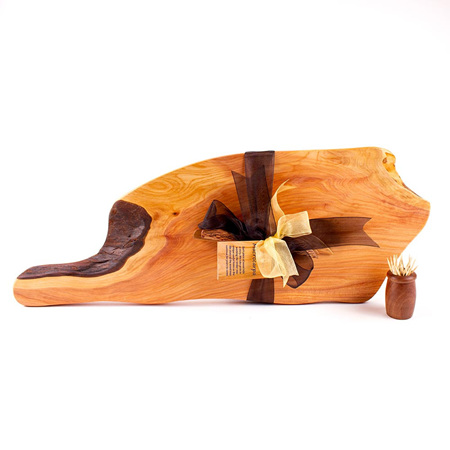 Rustic Natural Edge Board and Knife Set 500