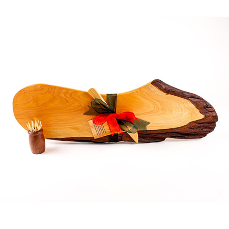 Rustic Natural Edge Board and Knife Set 506