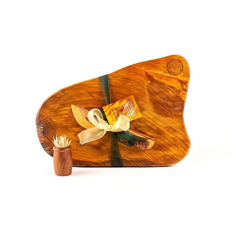 Rustic Natural Edge Board and Knife Set 530
