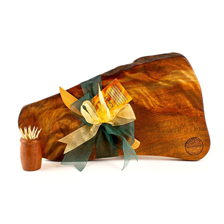 Rustic Natural Edge Board and Knife Set 548
