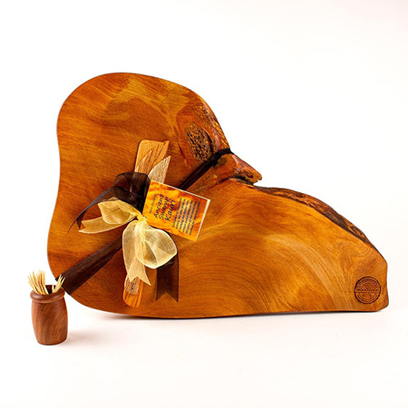 Rustic Natural Edge Board and Knife Set 550