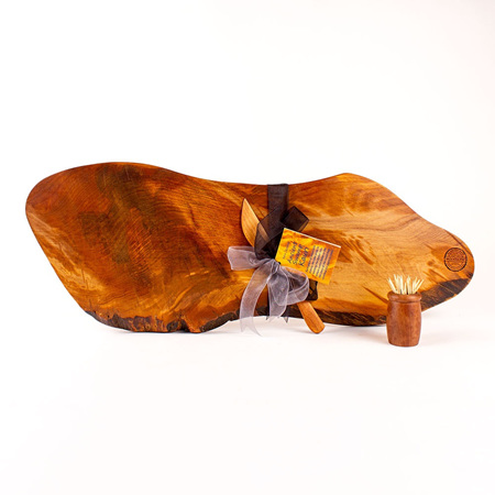 Rustic Natural Edge Board and Knife Set 557