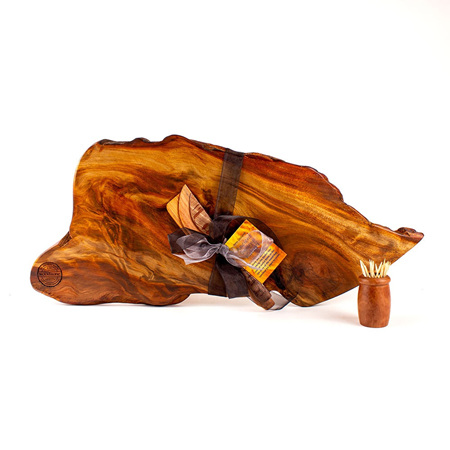 Rustic Natural Edge Board and Knife Set 561