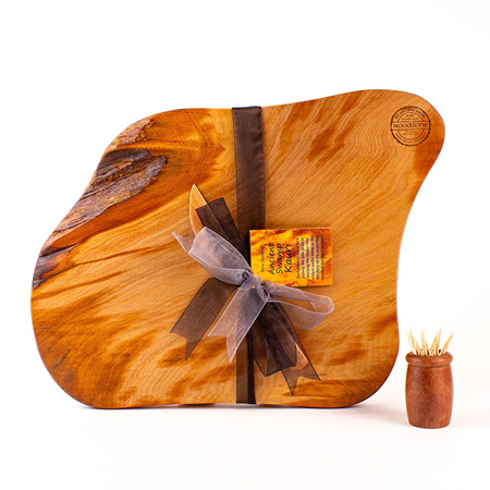 Rustic Natural Edge Board and Knife Set 571
