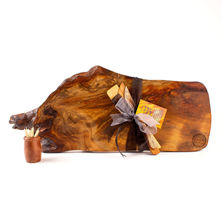 Rustic Natural Edge Board and Knife Set 572