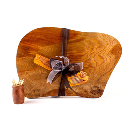 Rustic Natural Edge Board and Knife Set 579