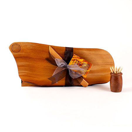 Rustic Natural Edge Board and Knife Set 580