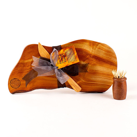 Rustic Natural Edge Board and Knife Set 581