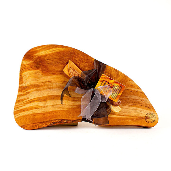 Rustic Natural Edge Board and Knife Set 588