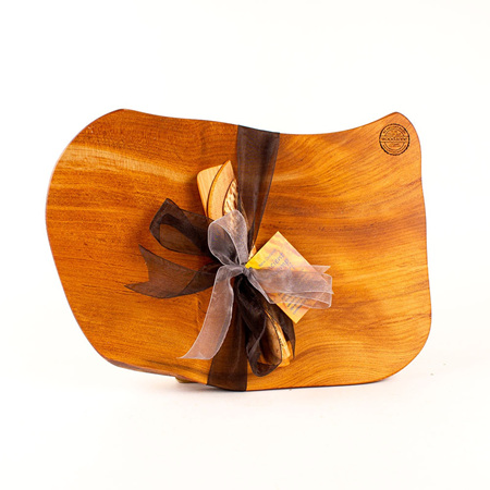 Rustic Natural Edge Board and Knife Set 596