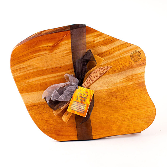 Rustic Natural Edge Board and Knife Set 597