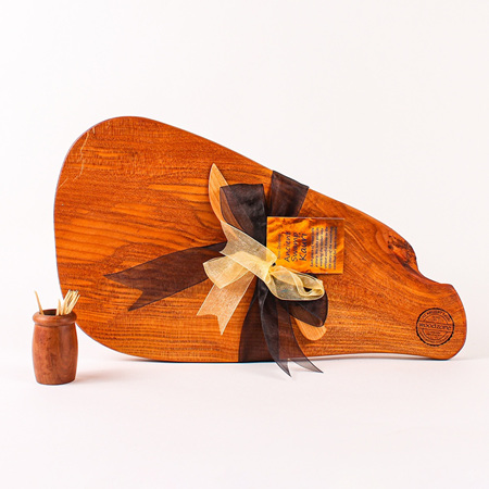 Rustic Natural Edge Board and Knife Set 619