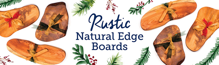 rustic natural edge boards - christmas picks - nz made