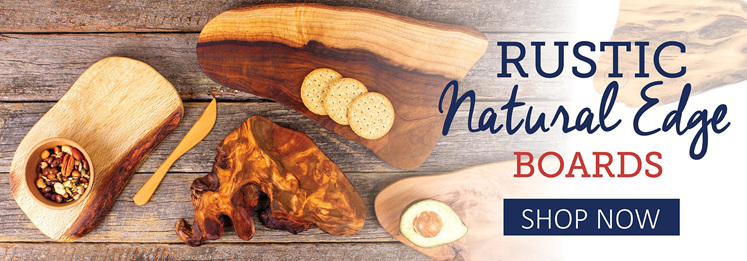 rustic natural edge boards - shop now