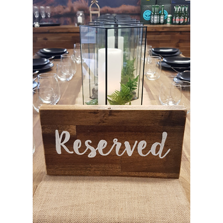 Rustic Reserved Sign