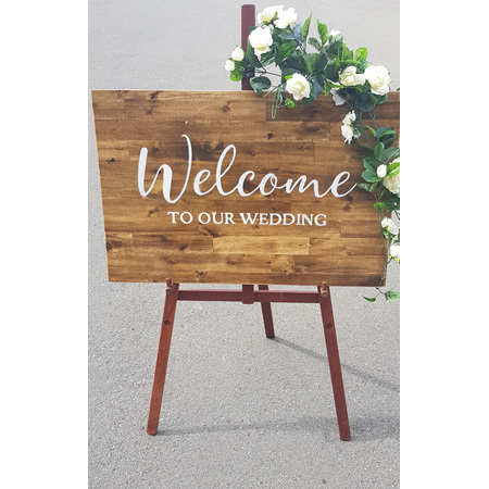 Rustic Wedding Sign - Welcome