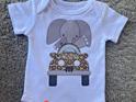 Safari Jeep Elephant Baby Bodysuit