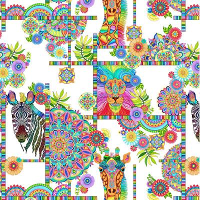 Safari So Goodie White Animals and Medallions 77630174