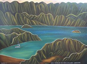 Safe Harbour in a New Zealand Landscape