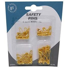 SAFETY PINS GLD PKT 48