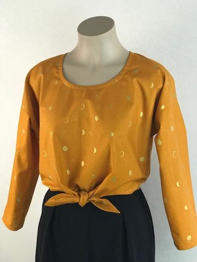 Saffron tie front top