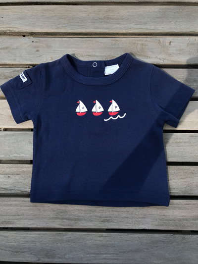 sail boat baby tee