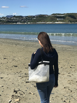 Sailcloth handbags made in NZ