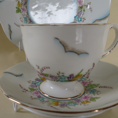 Salisbury Crown China trio