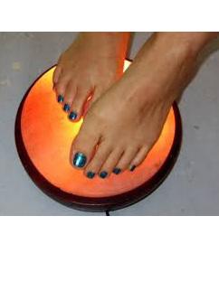 Salt Lamp Foot Detox