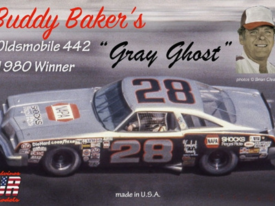 Salvinos JR Models 1/25 Buddy Baker 'Gray Ghost' Oldsmobile 1980 Daytona 500