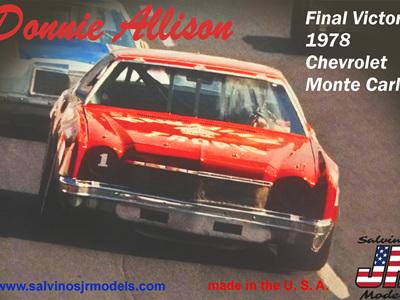 Salvinos JR Models 1/25 Donnie Allison 1978 Chevrolet Monte Carlo
