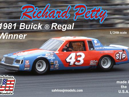 Salvinos JR Models 1/25 Richard Petty 1981 Winner Buick Regal