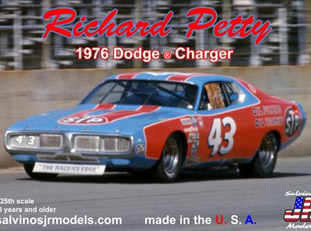 Salvinos JR Models 1/24 1976 Richard Petty Dodge Charger (R-RPDC1976D)