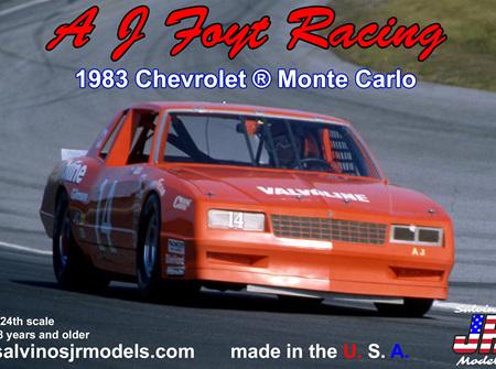 Salvinos JR Models 1/24 1983 AJ Foyt Racing Monte Carlo (R-AJMC1983D)