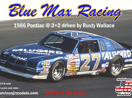 Salvinos JR Models 1/24 Blue Max Racing 86 Alugard Pontiac - Rusty Wallace (BMGP1986B)