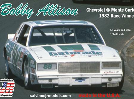 Salvinos JR Models 1/24 Bobby Allison Chevrolet ® Monte Carlo 1982 Race Winner