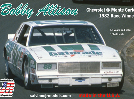 Salvinos JR Models 1/24 Bobby Allison Monte Carlo 1982 Race Winner (SAL1982)