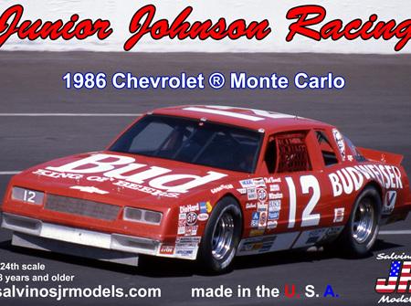 Salvinos JR Models 1/24 Junior Johnson Racing #12 Budweiser 1986 Monte Carlo