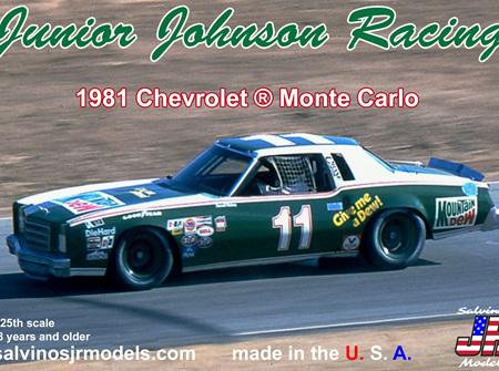 Salvinos JR Models 1/24 Junior Johnson Racing 1981 Monte Carlo (JJMC1981R)