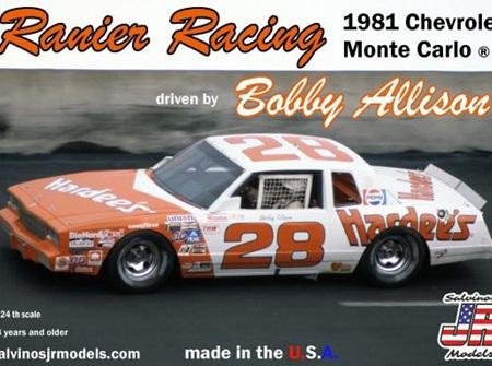 Salvinos JR Models 1/24 Rainier Racing Bobby Allison #28 Chevrolet Monte Carlo 1981 (SAL19810)
