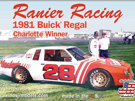 Salvinos JR Models 1/24 Ranier Racing 1981 Buick Regal Charlotte Winner (R-RRB1981C)