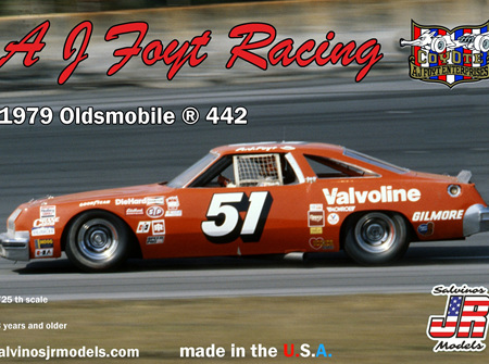 Salvinos JR Models 1/25 AJ Foyt Racing 1979 Olds 442 (R-AJO1979D)