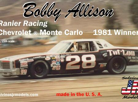 Salvinos JR Models 1/25 Bobby Allison's Chevrolet ® Monte Carlo 1981 Winner