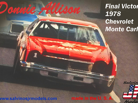 Salvinos JR Models 1/25 Donnie Allison 1978 Chevrolet Monte Carlo