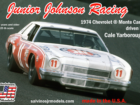 Salvinos JR Models 1/25 JJ Racing 1974 Chevrolet Monte Carlo driven by Cale Yarborough (SALJJMC1974)